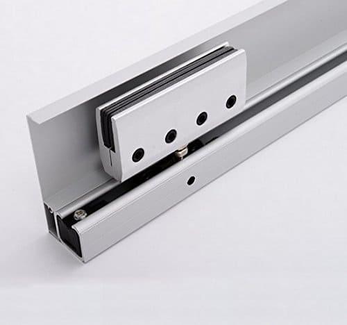 pinzas o mandibulas para puerta corredera de cristal homcom e7-0002