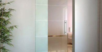 comprar puerta corredera de cristal barata homcom e7-002