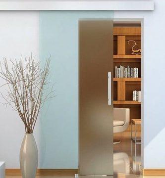 puerta corrediza de cristal homcom 0015